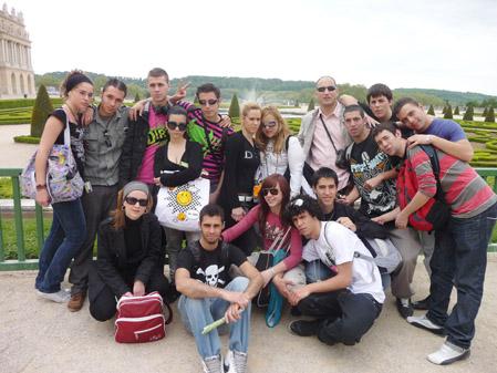 foto de grupo en VERSALLES