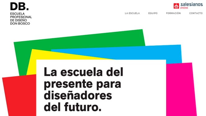 DB, escuela profesional de diseño Don Bosco, master diseño, Salesianos Atocha, Artes gráficas