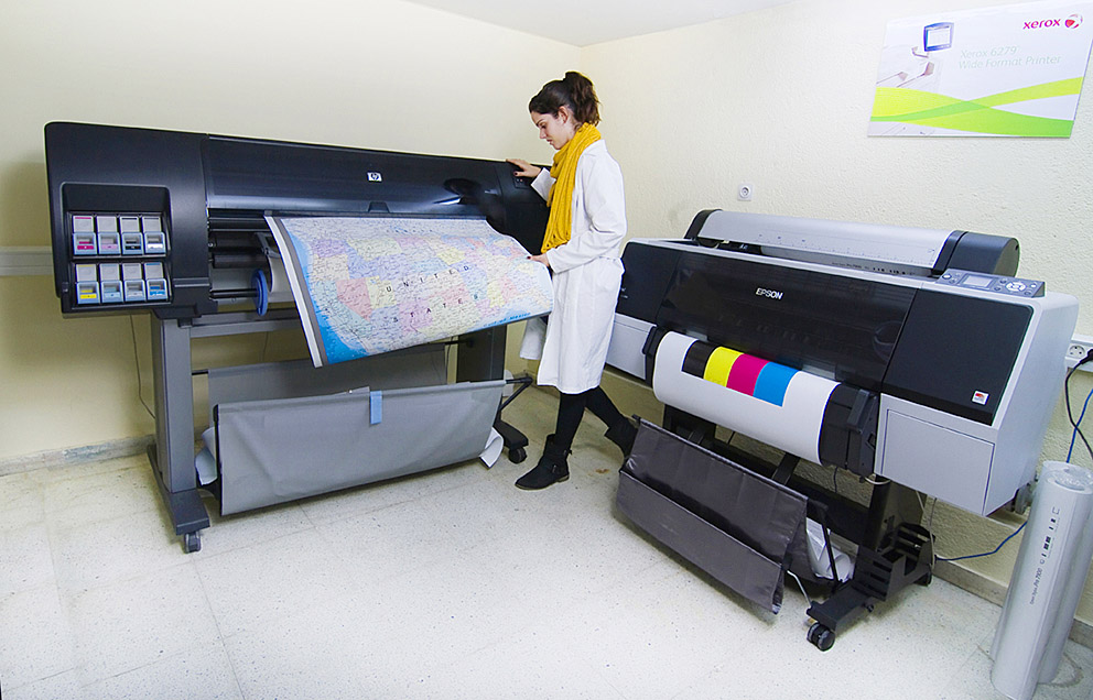 HP DesingJet z 6100ps, Epson 4600, kpruebas certificadas, Departamento Artes Gráficas, Salesianos Atocha, Madrid
