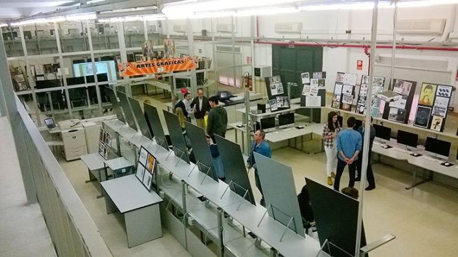 Departamento de artes gráficas, salesianos atocha, 2010, puertas abiertas, exposición trabajos alumnos aula G3, Diseño, Preimpresión