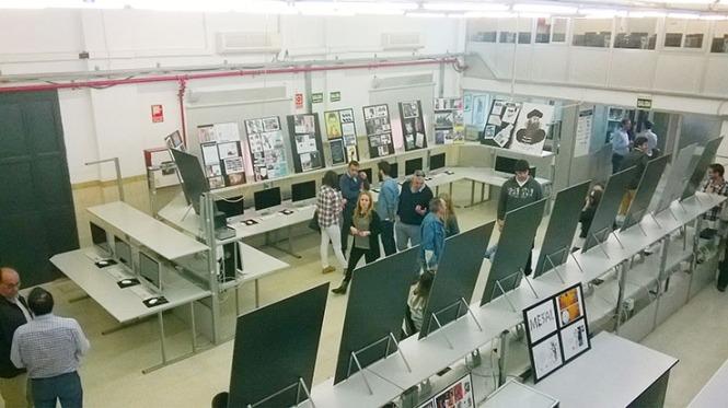 Departamento de artes gráficas, salesianos atocha, 2010, puertas abiertas, exposición trabajos alumnos aula G2, Diseño, Preimpresión