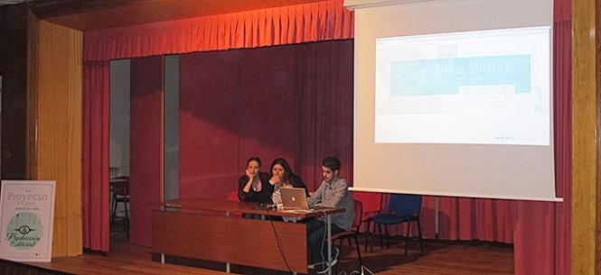 diseño y producción editorial, artes gráficas salesianos atocha, presentación proyecto integrador 2015, proyecto bleu marine, grey advertising spain