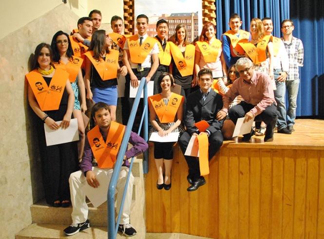graduación  alumnos Impresión 2013-2015 ,departamento de artes gráficas, salesianos atocha, madrid