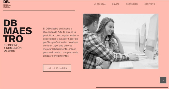 DB_maestro, DB. Escuela profesional de diseño Don Bosco, master diseño, Salesianos Atocha, Artes gráficas