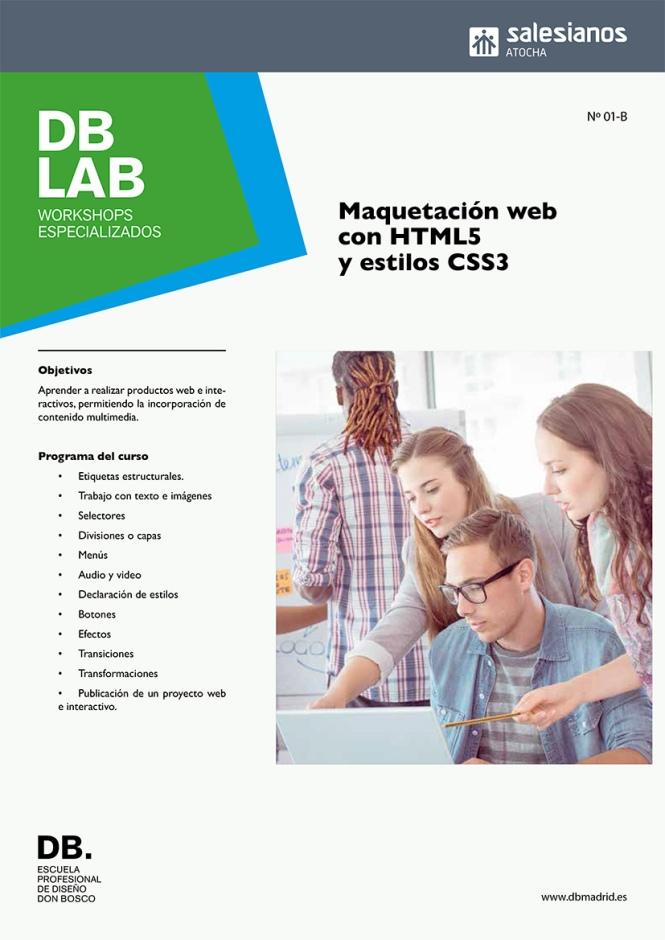 DB_LAB, workshops especialidos en diseño, maquetación web, html5, estilos ccs3, dirección de arte, artes gráficas, DB_MAESTRO, departamento de artes gráficas, salesianos atocha, madrid ,