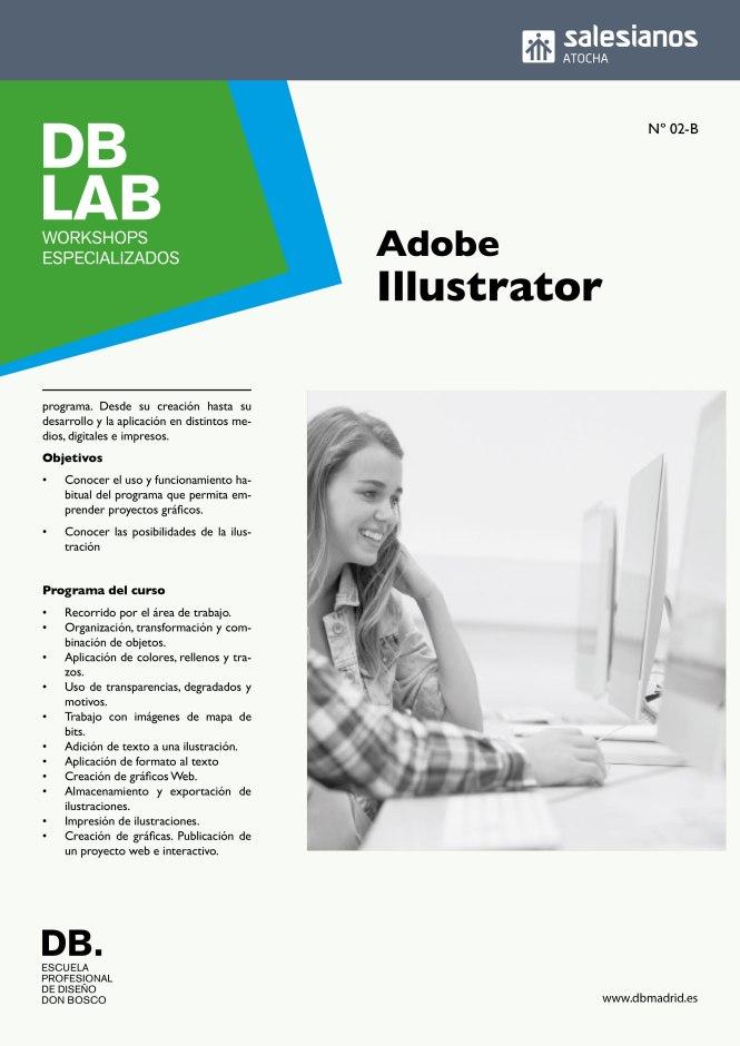 db_lab, workshop, Illustrator, Curso propio; departamento artes gráficas, salesianos atocha, Madrid, formación profesional, diseño