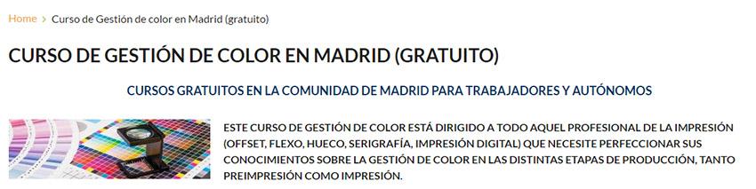 curso gestión de color, jorge Diego, Artes Gráficas