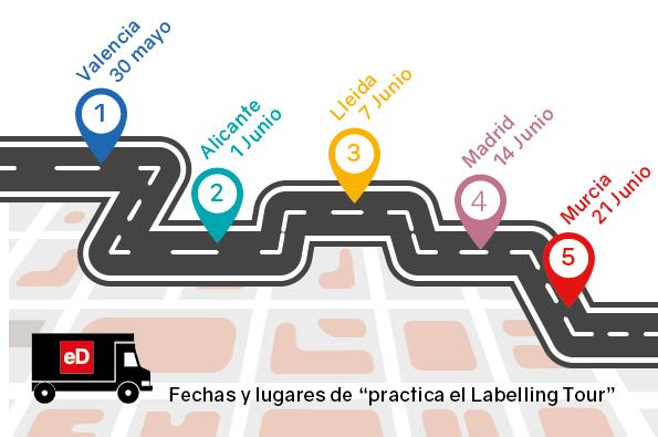 labelling tour, impresión digital, salesianos atocha, departamento de artes gráficas
