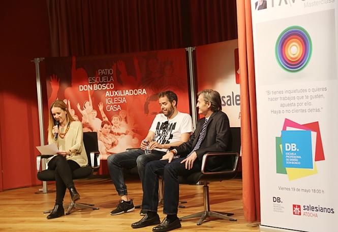 masterclas tavo, db, db maestro, departamento artes gráficas salesianos atocha, Madrid, diseño, motion graphics, presentación director