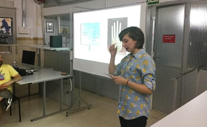 Defensa proyecto final de curso 2016-2017, Claire Van Kuijck, Máster DB Diseño y Dirección de Arte, Departamento de artes gráficas salesianos atocha