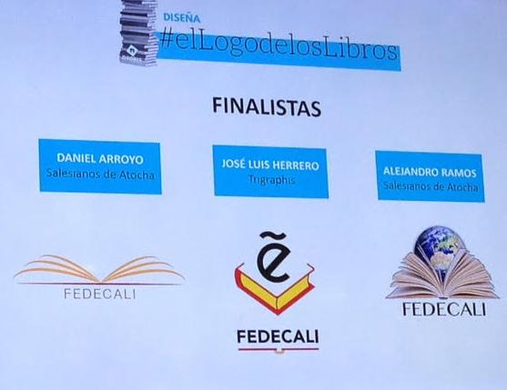 logos finalistas concurso fedecalli, neobis, liber, artes gráficas, departamento artes gráficas salesianos atocha, diseño