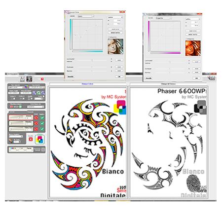 departamento artes gráficas salesianos atocha, impresión colores fluorescentes, xerox, reprise, bianco digitale