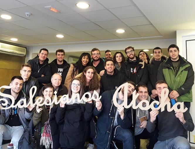 visita a AGA enero 2018, alumnos de Artes Gráficas Salesianos Atocha, Grado superior de diseño y producción editorial primer curso