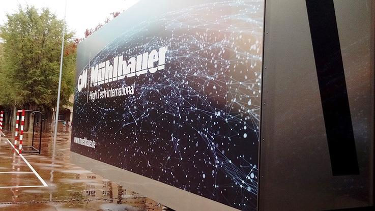 camión demostración tecnologías Mülhbauer, salesianos atocha, impresión digital, seguridad, grabado láser