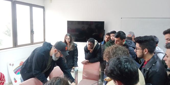 Truyol digitla; alumnos de preimpresión, Artes gráficas Salesianos Atocha,Impresión digital